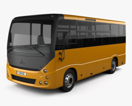 3D model of MAZ 241030 Bus 2016
