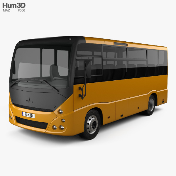 3D model of MAZ 241030 Bus 2016