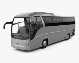 3D model of MAZ 251062 Bus 2016