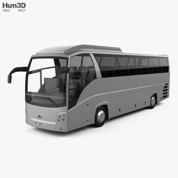 3D model of MAZ 251062 Bus 2016