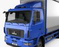 MAZ 4381 Box Truck 2017 3d model