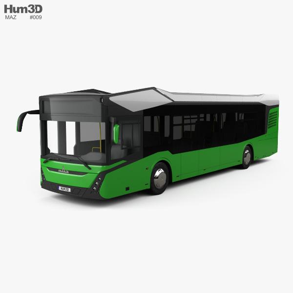 3D model of MAZ 303 Bus 2019