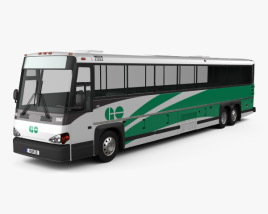 3D model of MCI D4500 CT Transit bus 2008