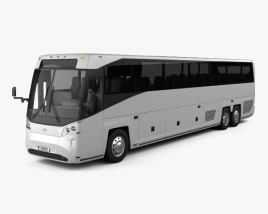3D model of MCI D45 CRT LE Coach Bus 2018