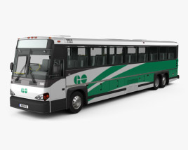 3D model of MCI D4500 CT Transit Bus with HQ interior 2008