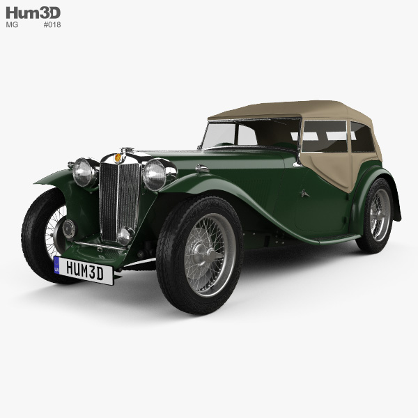 3D model of MG TC Midget 1945