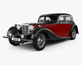 3D model of MG SA Saloon 1936