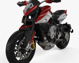 3D model of MV Agusta Rivale 800 2015