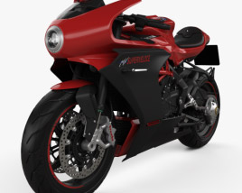 3D model of MV Agusta Superveloce 800 2020