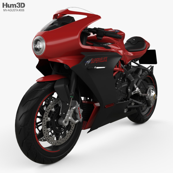 MV Agusta Superveloce 800 2020 3D model
