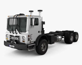3D model of Mack Terrapro Chassis Truck 2007