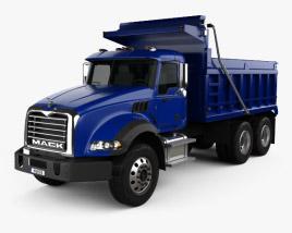 3D model of Mack Granite Dump Truck 2002