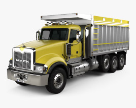 3D model of Mack Granite Dump Truck 2009
