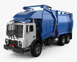 3D model of Mack TerraPro Hercules Garbage Truck 2007