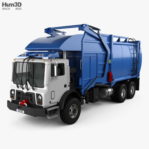 3D model of Mack TerraPro Hercules Garbage Truck 2007