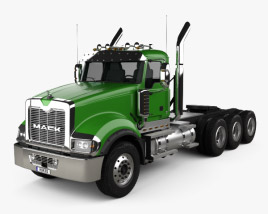 3D model of Mack Titan Tractor Truck 4axle 2007