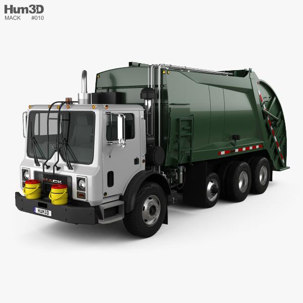 3D model of Mack TerraPro Garbage Truck 2007