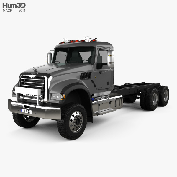 3D model of Mack Granite MHD Chassis Truck 2016