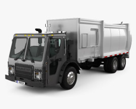3D model of Mack LR Garbage Truck 2015