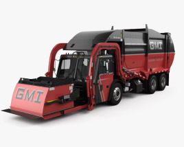 3D model of Mack TerraPro Mcneilus Garbage Truck 2016