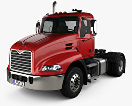 3D model of Mack Pinnacle Day Cab Tractor Truck 2011