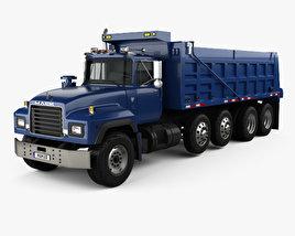 3D model of Mack RD600 Dump Truck 2000