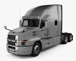 3D model of Mack Anthem StandUp Sleeper Cab Tractor Truck 2018