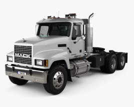 3D model of Mack CHN613 Day Cab Tractor Truck 2007