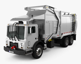 3D model of Mack TerraPro MRU613 Garbage Hercules Truck 2017