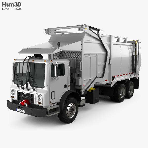 3D model of Mack TerraPro MRU613 Garbage Hercules Truck 2017