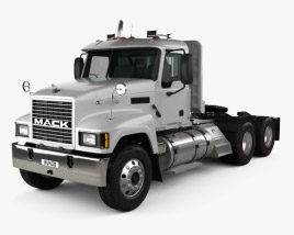 3D model of Mack CH613 Tractor Truck 2006