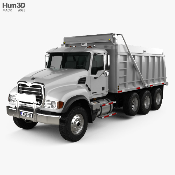 3D model of Mack Granite CV713 Dump Truck 2009