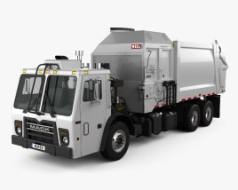 3D model of Mack LR LEU613 Garbage Truck Heil 2015