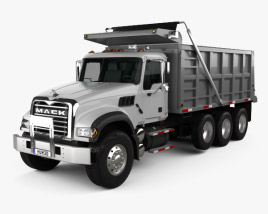 3D model of Mack Granite CTP713 Tipper Truck 4-axle 2007