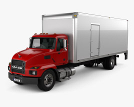 3D model of Mack MD Box Truck 2020