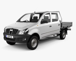 3D model of Mahindra Genio Dual Cab Pickup 2011