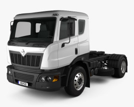 3D model of Mahindra Navistar MN35 Tractor Truck 2010