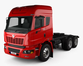 3D model of Mahindra MN 49 Tractor Truck 2010