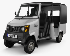 3D model of Mahindra Gio Compact Cab 2011