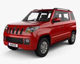 3D model of Mahindra TUV300 2015
