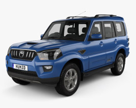 3D model of Mahindra Scorpio 2015