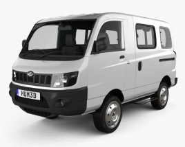 3D model of Mahindra eSupro Van 2017