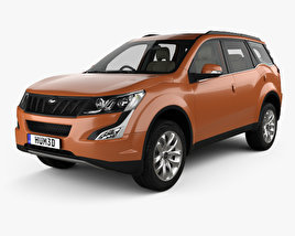 Mahindra XUV 500 with HQ interior 2015 3D model