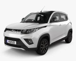3D model of Mahindra KUV 100 with HQ interior 2018