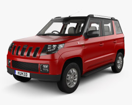 3D model of Mahindra TUV300 with HQ interior 2015