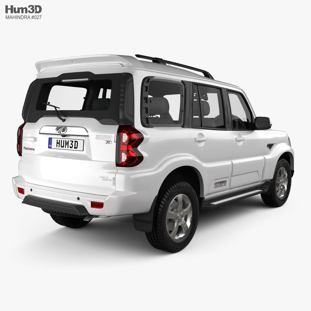 Mahindra Scorpio S11 2020 3d model