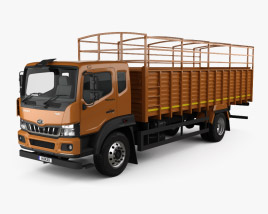 3D model of Mahindra Furio 17 BS6 Flatbed Truck 2020