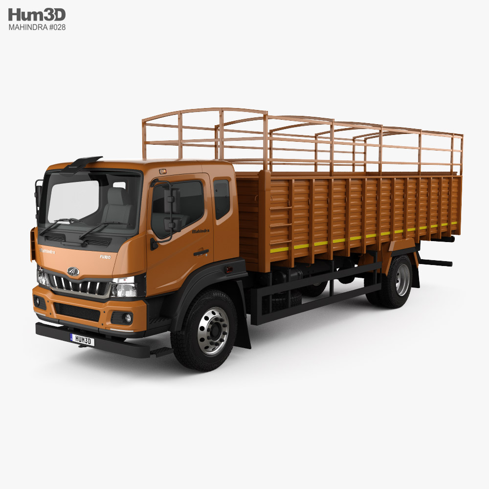 Mahindra Furio 17 BS6 Flatbed Truck 2020 3D model