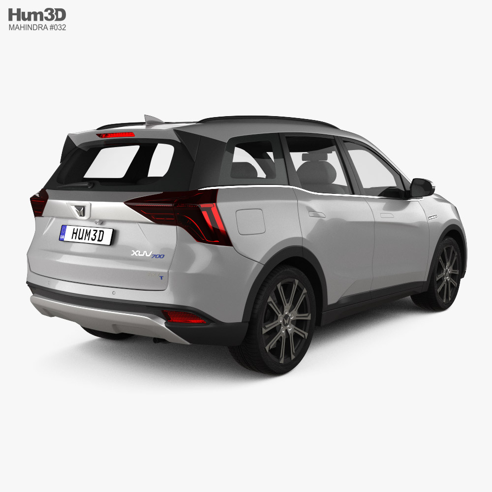 Mahindra XUV700 2021 3d model back view