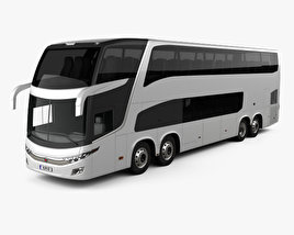 3D model of Marcopolo Paradiso G7 1800 DD 4-axle Bus 2017